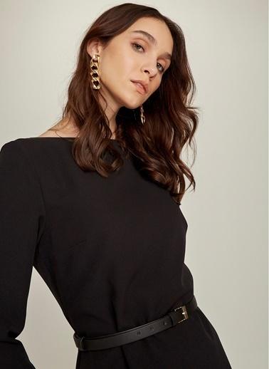 NGSTYLE Essentials - Kemerli Elbise Siyah